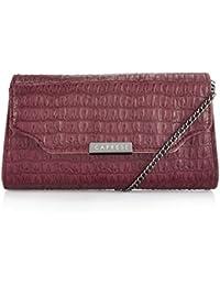 Caprese Women's Sling Bag (Croc Maroon)