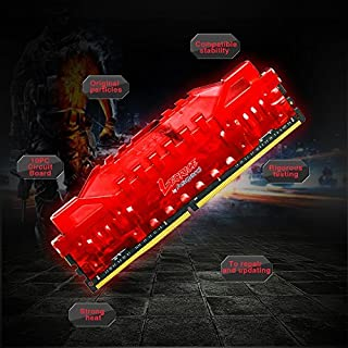 Asgard Memory DDR4 with Heat Sink,Leorice Memory Ram 2400MHZ PC4 19200 CL16 1.2V Gaming Memory for Desktop with Light Breathing (8G*2, red)