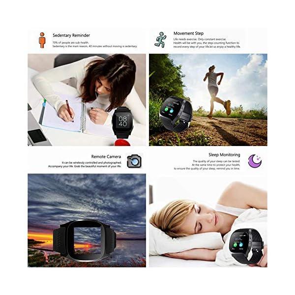 CanMixs Smartwatch CF02 es compatible con la tarjeta SIM Reloj de pulsera TF con cámara Podómetro Sleep Monitor Message Sync notifica el reproductor de música sedentaria para el teléfono Android IOS 4
