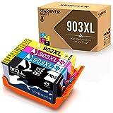 STAROVER 4x Kompatibel Druckerpatrone für HP 903 XL 903XL Tintenpatronen für HP Officejet Pro 6950 6960 6970 6975 All-in-One Drucker (1 Schwarz+1 Cyan+1 Magenta + 1 Gelb, mit Neuestem Chip)