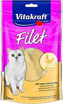 Vitakraft Premium Friandise/Filet Poulet pour Chat 70 g - Lot de 7