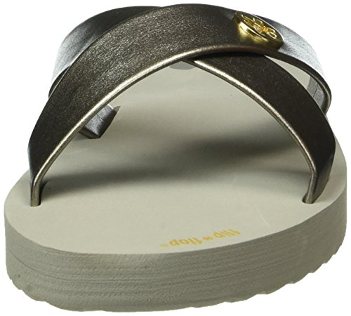 flip*flop Damen Original Cross Metallic 2 Pantoletten Grau (Flint grey 059)