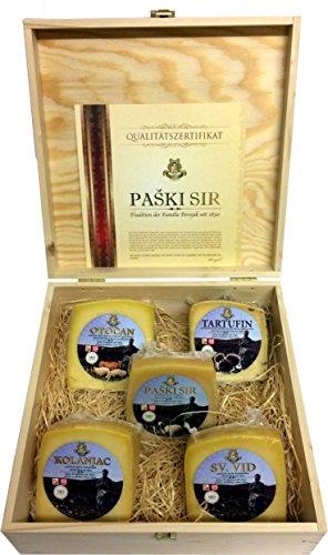 Geschenkbox mit 5 Sorten Pager Käse ca. 1400g