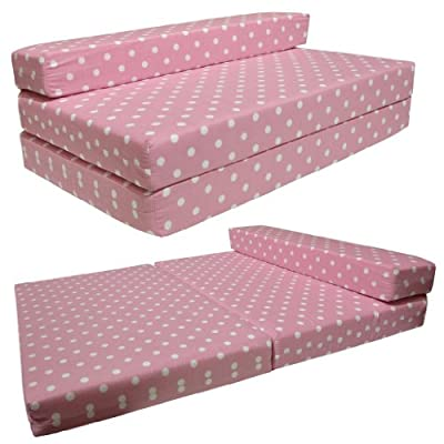 SOFABED - PINK SPOTS double Sofa bed chair futon