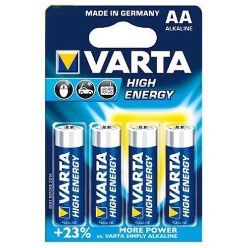 20 x Varta High Energy AA Alkaline 1,5 Volt Batterien Blister LR6 Mignon (20er Set)