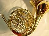 SYMPHONIE WESTERWALD Waldhorn/ Doppelhorn in Bb/ F, Gold/Silber + Hornständer, inkl. Luxus-Hartschalenkoffer und Zubehör, Neu