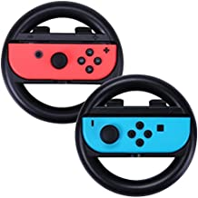 HSeaMall 2Pack Racing Steering Wheel Protect Case para Nintendo Switch Joy-Con Controller, controlador del volante Repalcement (negro)