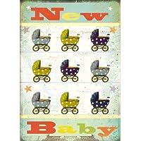 Nuovo Baby passeggini biglietto d'auguri biglietto d'auguri di Max Hernn & Stephen (Congratulazioni Nuovo Bambino)