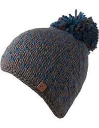 Bronxx Mütze - Strickmütze mit Bommel - handmade
