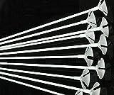 Monicaxin 100Pc Aste con valvola per palloncini, 42 cm, colore: bianco/white