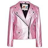 A2Z 4 Kinder Mädchen JACKEN - PU Leather JACKE 460 Baby Pink 11-12