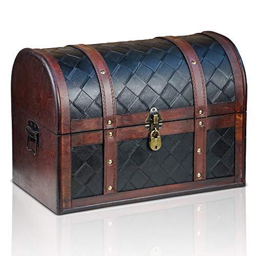 Brynnberg Caja de Madera Watson 38x23x27cm - Cofre del Tesoro Pirata d