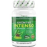 Grüntee Intenso - 60 vegane Kapseln a 685 mg Grüner Tee Extrakt - 98%...