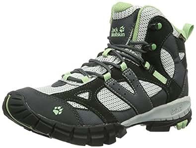 Jack Wolfskin  VOLCANO MID TEXAPORE WOMEN, Chaussures de randonnée femme - Gris - Grau (soft green), 43 EU