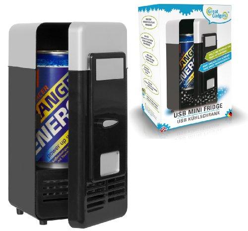 GreatGadgets 3072-2 USB Minikühlschrank (Schwarz)