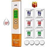 pH Messgerät, kungfuren Aufgerüstet pH Wert Messgerät Digital pH Temperatur Messgerät Tester für Aquarium,Wasser, Pool,Urin, Hydrokultur, Labor, Gartenarbeit und Spas