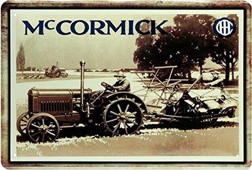 Blechschild 20x30 cm Mc Cormick McCormick Traktor Bulldog Schlepper Oldtimer Werkstatt Garage Metall Schild