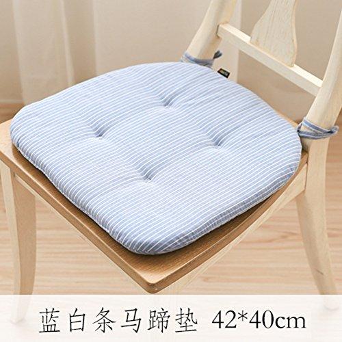 WJX&Likerr Rustikale Einfache Stuhlkissen, Warme Speisesaal Stuhl Kissen Blended Stoff Sitzkissen Auto-Kissen Bodenkissen Mit Riemen-G 40x42x2cm(16x17x1inch) -