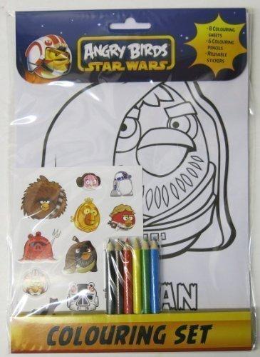 Bird Kostüm Jungen Angry - Anker ANK2601/ABCS - Angry Birds Star Wars Ausmalset