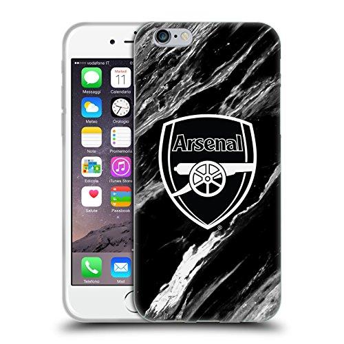 Officiel Arsenal FC Marbre 2017/18 Modèles De Crête Étui Coque en Gel molle pour Apple iPhone 5 / 5s / SE Marbre