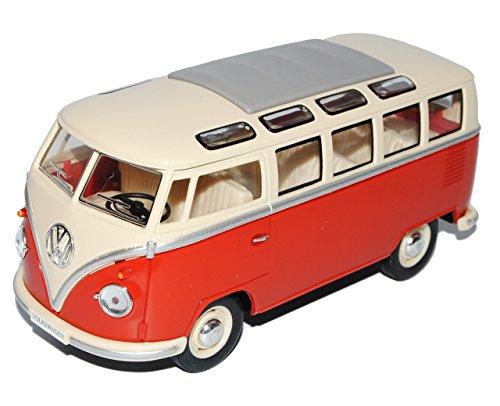 VW Volkswagen T1 Rot Weiss Samba Bully Bus 1950-1967 1/24 Modellcarsonline Modell Auto