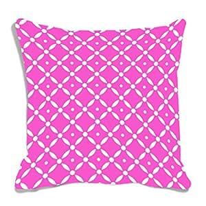 meSleep Abstract Pink Digitally Printed Cushion Cover