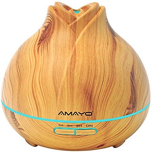 AMAYO Aroma Diffuser, 400ml Air-Diffuser, Luftbefeuchter, Duftlampe, Dekoration, Hotel, Badezimmer, Wohnung, Zimmer, Spa & Sport, Relaxen A1519 (Beige)