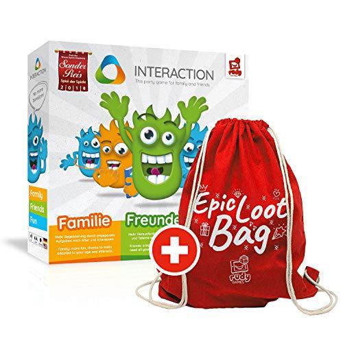 rudy games Interaction 2018 Interaktives Partyspiel mit App und Footbag, Für die Familie und Freunde ab 8 Jahren | Rollenspiel Smart Game Hybrid Spiel Quizspiel für Erwachsene (Epic Loot Bag Bundle)