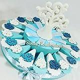 Sindy Bomboniere Torte Gastgeschenk mit Baum des Lebens aus Keramik und zentrale Lufterfrischer Taufe Geburt Geburtstag Torta Da 60 Fette