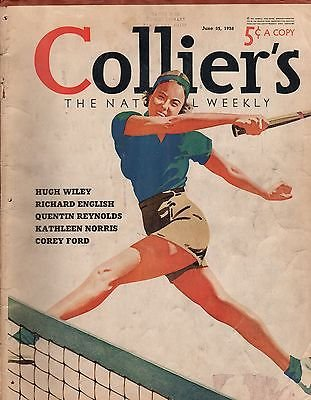 Collier's June 25, 1938 - Volume 101, No. 26. Tennis; Adolphe Mendou