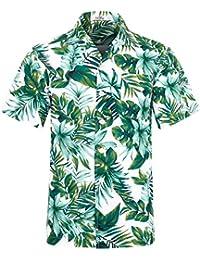 4c42bbaa34a Men s Hawaiian Shirt Short Sleeve Aloha Shirt Beach Party Flower Shirt  Holiday Casual Shirts