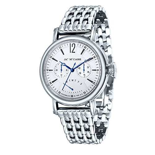 James McCabe Men's JM-1017-22 Lurgan Analog Display Quartz Silver Watch
