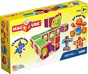 Geomag- MagiCube Robots Juego de Construcción, 38 Piezas, (142)
