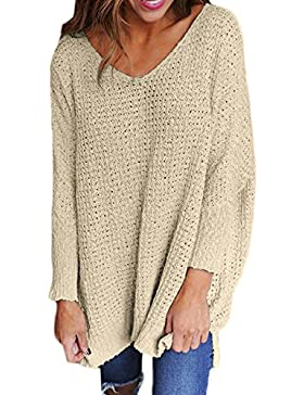 La Mujer Casual Loose Jersey Holgado V Neck Knit Cardigan Sweaters Blusas