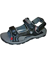2a1679ddc715af MENS VELCRO DUNLOP SPORTS WALKING SANDALS SIZE UK 6 - 12 BLACK BROWN DMP971
