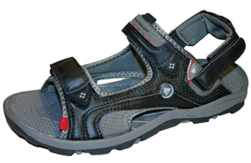 MENS DUNLOP SPORTS WALKING SANDALS SIZE UK 6 - 12 BLACK/BROWN DMP971...