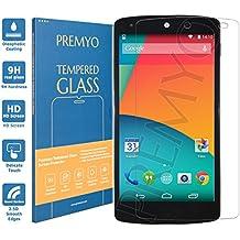PREMYO cristal templado Nexus 5. Protector cristal templado Nexus 5 con una dureza de 9H, bordes redondeados a 2,5D. Protector pantalla Nexus 5