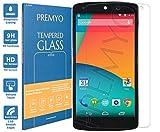 PREMYO vetro temperato Nexus 5. Pellicola vetro temperato Nexus 5 con una durezza di 9H e bordi arrotondati da 2,5D. Pellicola in vetro Nexus 5