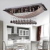 DINGGU™ Luxuriöse Kristall-Pendelleuchte mit 8 Lampen, Deckenleuchte-Befestigung Flush Mount Kronleuchter Beleuchtung mit Lampe inbegriffen, Crystal, Fit für Küche, Esszimmer, Wohnzimmer