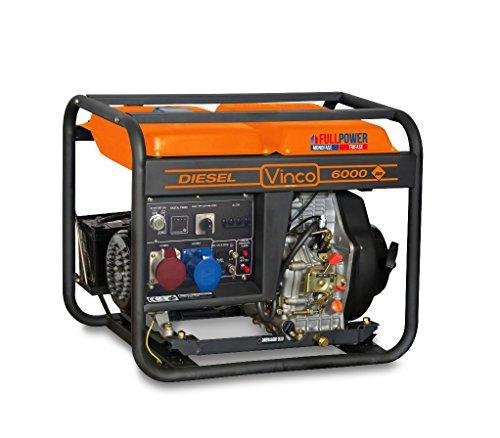 Generatore di corrente 60213 VINCO diesel 5,5 KW monofase-trifase, usato usato  Spedito ovunque in Italia