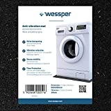 Wessper Antivibrationsmatte für Waschmaschinen Bosch WFD1660BY/03 (60 x 60 x 1cm, Gummimatte)