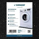 Wessper Antivibrationsmatte für Waschmaschinen Mastercook PF-700E (60 x 60 x 1cm, Gummimatte)