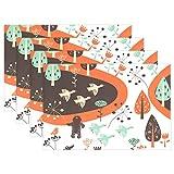 SENNSEE Animal Birds Wild Gans Tisch-Sets Home Teller Fußmatte Esstisch hitzebeständig Küche Tisch Matte 30,5x 45,7cm, Polyester, Mehrfarbig, 4 Stück