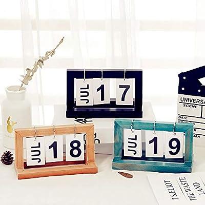 Simple Creativo Flip Página Calendario Calendario Nordic Pequeños Adornos de SMAQZ