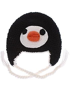 Chic-net skimütze tiergesicht à capuche en tricot bonnet hibou islande laine unisexe pour enfant