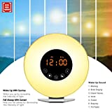 Wake up Light Despertador De Luz Despertador Sunrise Simulation Despertador Digital, 6 Sonid...