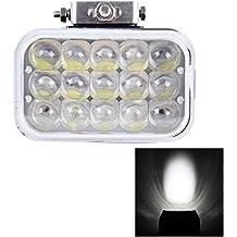 Luces de alta calidad, 5 pulgadas DC 12-80V 75W 3800LM 6000K Focos de coche de niebla de foco cuadrado Foglight LED Car Bulbs con 15 luces LED