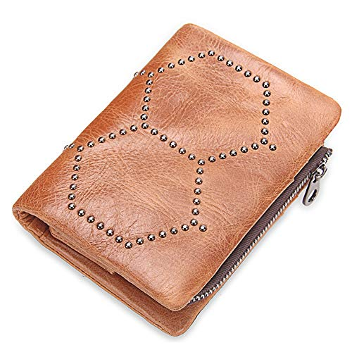 a9e5420e907 JCH Wallet Leather Removable Coin Purse Clutch Bag Studded Bag For Men  Women (Color