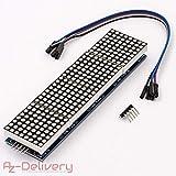 AZDelivery ⭐⭐⭐⭐⭐ MAX7219 8x32 4 in 1 Dot Matrix LED Anzeigemodul für Arduino mit gratis eBook!