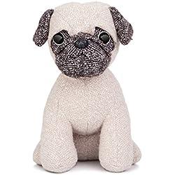 Aurora World peluche de perro pug, colección fabbies, Tamaño pequeño, Gris/Marrón Claro/Blanco